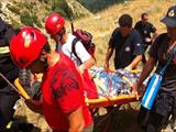 Rescue operation at Anthohori in Metsovo