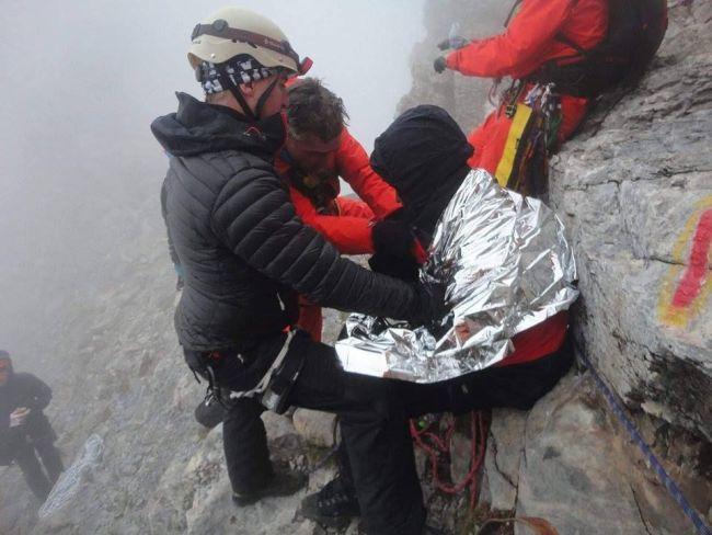 Ολοκληρώθηκε η επιχείρηση απεγκλωβισμού του ορειβάτη στον Όλυμπο