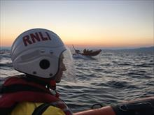 The British sea rescue organization RNLI starts a six-month training program at Lesvos HRT