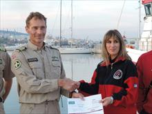 The Norwegian organization for maritime rescue RS supports the effort of the Lesvos HRT for