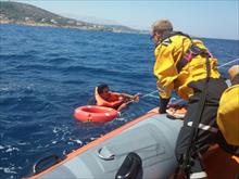 SAR operation with refugees on Chios