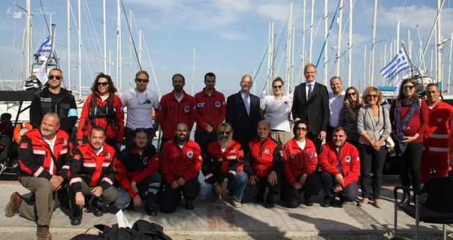 "HRT rescue boats ""Zeta"" and ""Chiara"" handover ceremony in Kos"